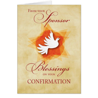 From Sponsor, Confirmation Congratulations Dove Card