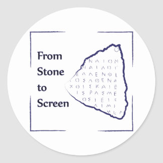 From Stone to Screen Logo Classic Round Sticker
