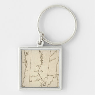 From Stratford to Poughkeepsie 15 Silver-Colored Square Keychain