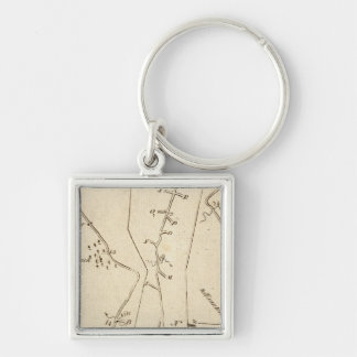 From Stratford to Poughkeepsie 16 Silver-Colored Square Keychain