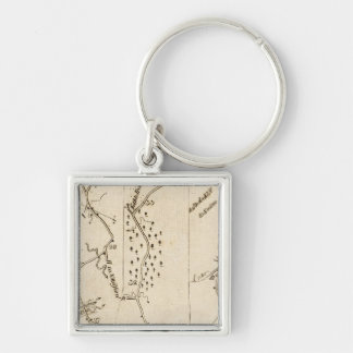 From Stratford to Poughkeepsie 17 Silver-Colored Square Keychain