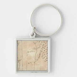 From Stratford to Poughkeepsie 18 Silver-Colored Square Keychain