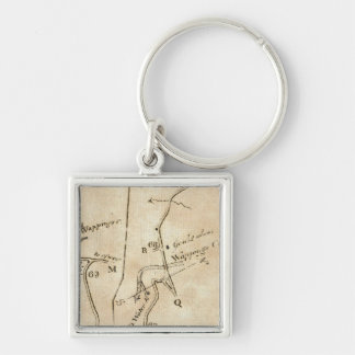 From Stratford to Poughkeepsie 20 Silver-Colored Square Keychain