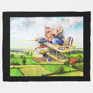 From Sty to Sky Flying Pig Fleece Blanket