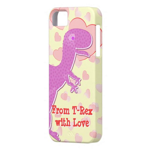 From T-Rex with Love Dinosaur Hearts iPhone 5 Case