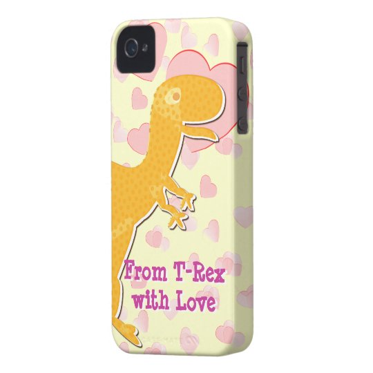 From T-Rex with Love Valentine Hearts iPhone 4 Case-Mate Case