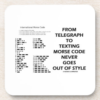 From Telegraph To Texting Morse Code Never Style Beverage Coaster