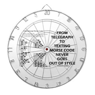 From Telegraph To Texting Morse Code Never Style Dartboard