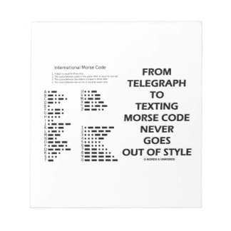 From Telegraph To Texting Morse Code Never Style Notepad