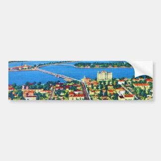 From the Air Miami Beach & Biscayne Bay, Florida Bumper Sticker