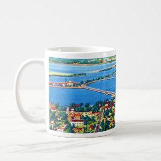 From the Air Miami Beach & Biscayne Bay, Florida Classic White Coffee Mug