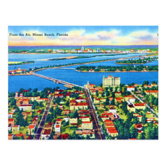 From the Air Miami Beach & Biscayne Bay, Florida Postcards