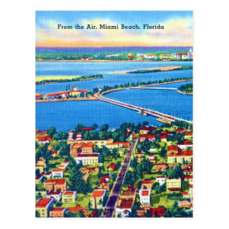 From the Air Miami Beach & Biscayne Bay, Florida Postcard