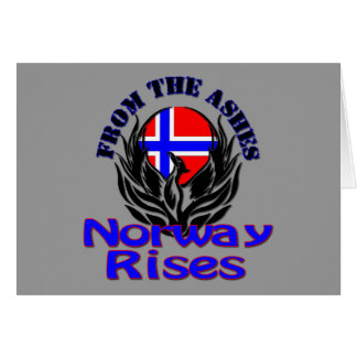 From the Ashes Norway Rises Stationery Note Card