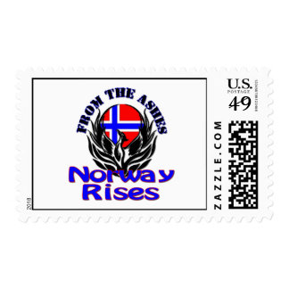 From the Ashes Norway Rises Postage Stamp