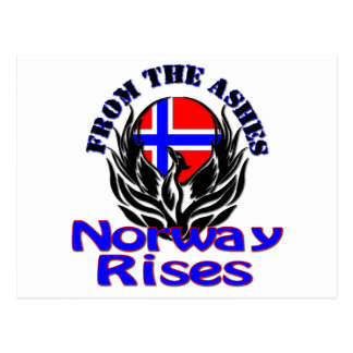 From the Ashes Norway Rises Postcard