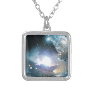 From the Ashes of the First Stars Square Pendant Necklace