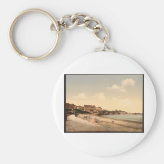 From the beach Biarritz Pyrenees France Keychain