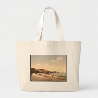 From the beach, Biarritz, Pyrenees, France Large Tote Bag