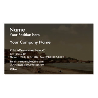 From the beach, Biarritz, Pyrenees, France vintage Double-Sided Standard Business Cards (Pack Of 100)