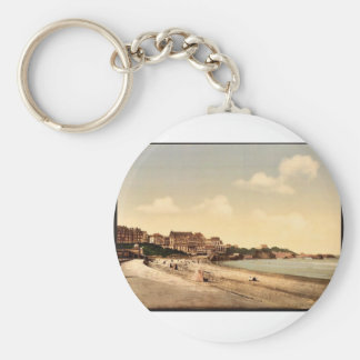 From the beach Biarritz Pyrenees France vintage Keychain