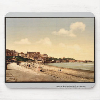 From the beach, Biarritz, Pyrenees, France vintage Mouse Pad