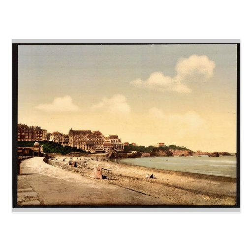 From the beach, Biarritz, Pyrenees, France vintage Post Cards