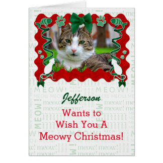 From the Cat Custom Photo Holiday Christmas Card