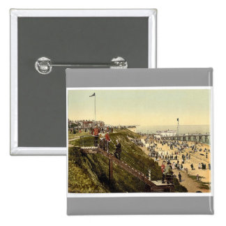 From the cliffs, Clacton-on-Sea, England vintage P Button