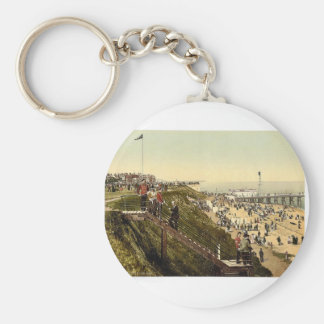 From the cliffs, Clacton-on-Sea, England vintage P Key Chains