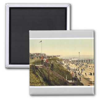 From the cliffs, Clacton-on-Sea, England vintage P Refrigerator Magnets