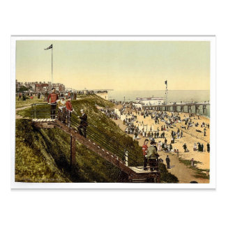 From the cliffs, Clacton-on-Sea, England vintage P Postcard