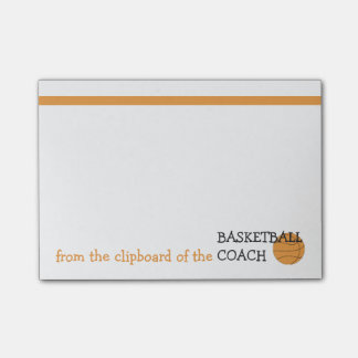 From the Clipboard of the Basketball Coach Post-it® Notes