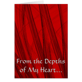 From the Depths of My Heart... Card