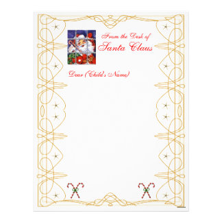 From the Desk Christmas Letterhead-Customize Letterhead
