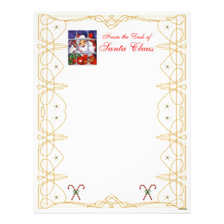 From the Desk Christmas Letterhead-Customize Letterhead