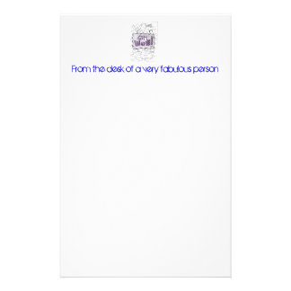 From the desk of a very fabulous person stationery