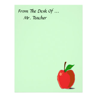 From The Desk Of Apple Stationery Personalized Letterhead