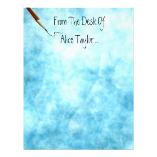 From The Desk Of... Blue Skies Parchment Paper Custom Letterhead