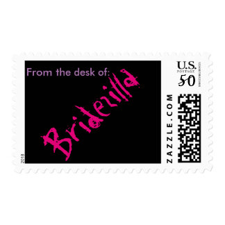 From The Desk of: Bridezilla Stamp