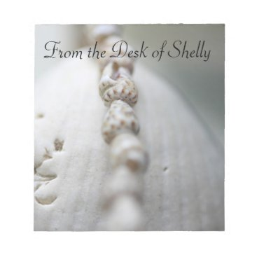 Beach Themed From the Desk of, Custom Sea Shell Notepad
