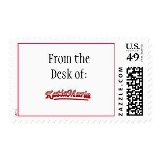 From the Desk of :   Customized Stamp
