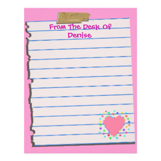 From The Desk Of...Fun Letterhead Stationery