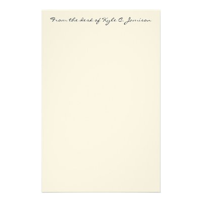 from the desk of stationery template zazzle com
