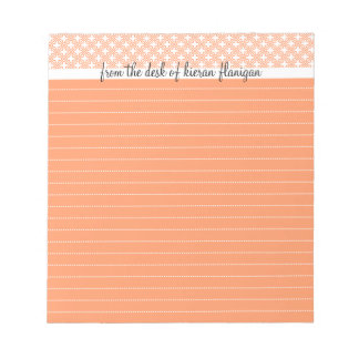 From the Desk Of - Lined Notepad, Peach Note Pad