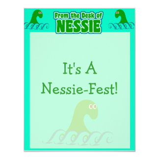 From the desk of Nessie! 4.25x5.5 Paper Invitation Card