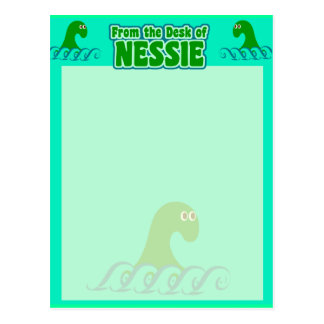 From the desk of Nessie! Postcard