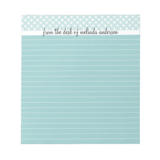 From the Desk Of Personalized Lined Notepad, Blue Notepad