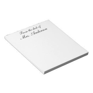 """""""From the desk of..."""" Personalized Notepad"""