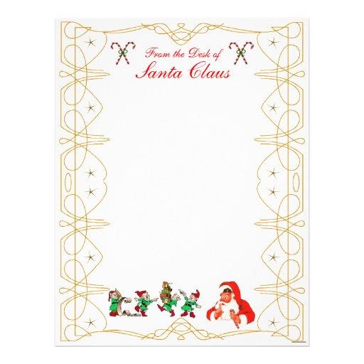 From The Desk Of Santa Claus Letterhead Zazzle